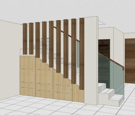 rak bawah tangga